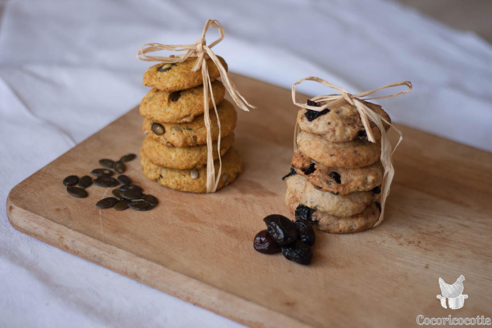 Cookies salés à l'okara d'avoine