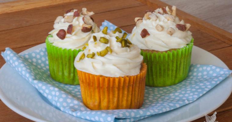 Cupcake citron-noisette