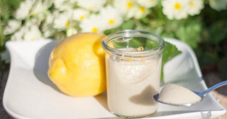 Flan végétal au citron (IG Bas – Sans lactose)